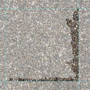 Rechter und unterer neuer Randabschluss der Kieselstein-Textur