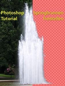 Springbrunnen Wasser freistellen